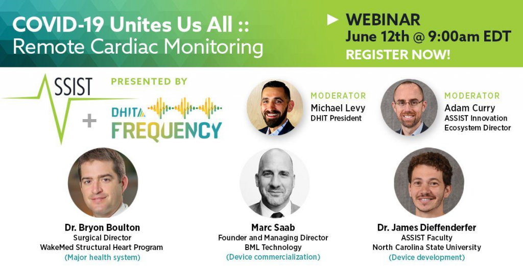 DHIT COVID-19 remote cardiac monitoring webinar panel